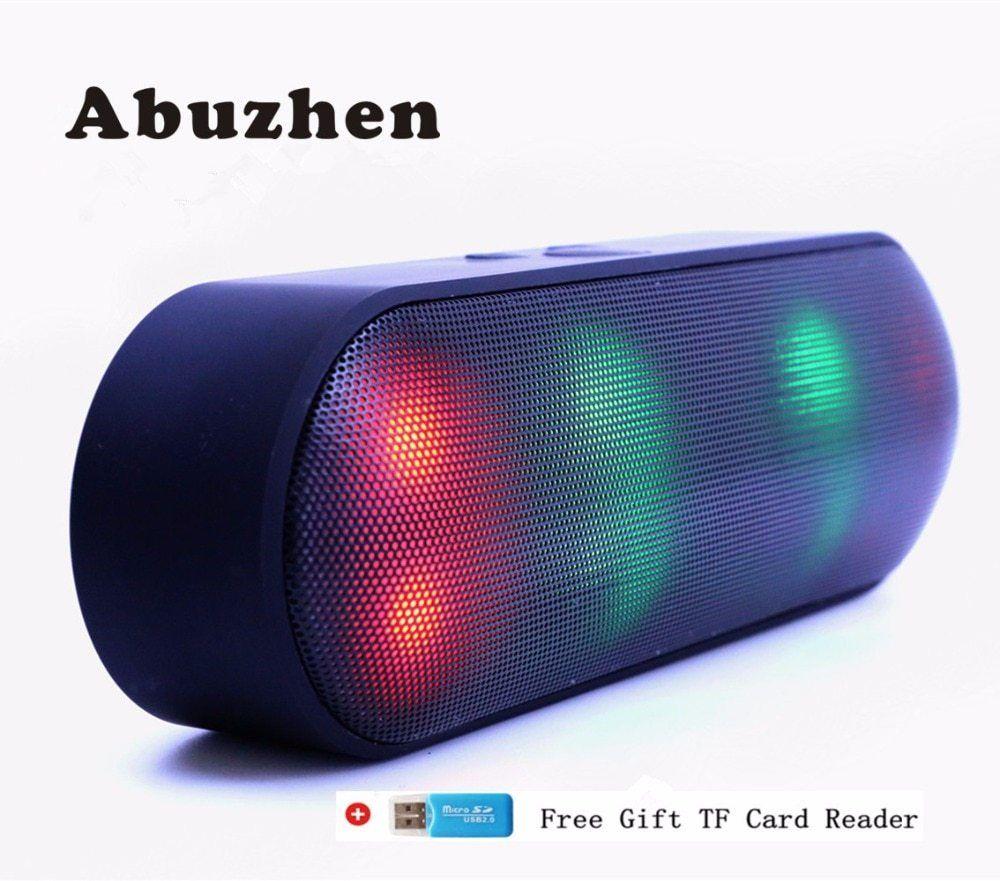 Abuzhen Bluetooth Speaker Led Portable Wireless Speaker Mini Sound System 3d Stereo Music Mp3 Player Surround Support Tf Aux Usb Mini Bluetooth Speaker Por