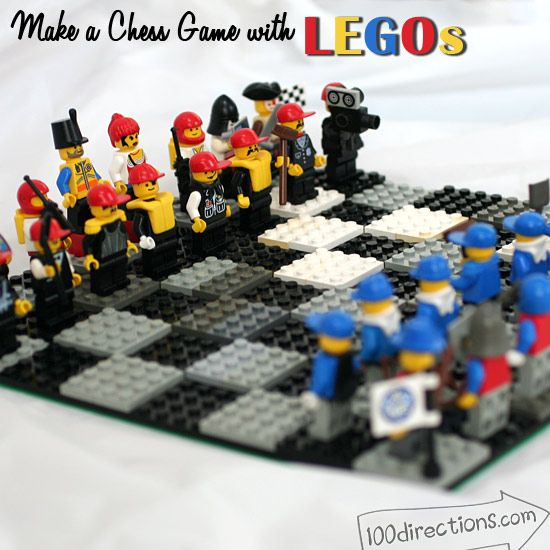 DIY LEGO chess game board and pieces @jgoode