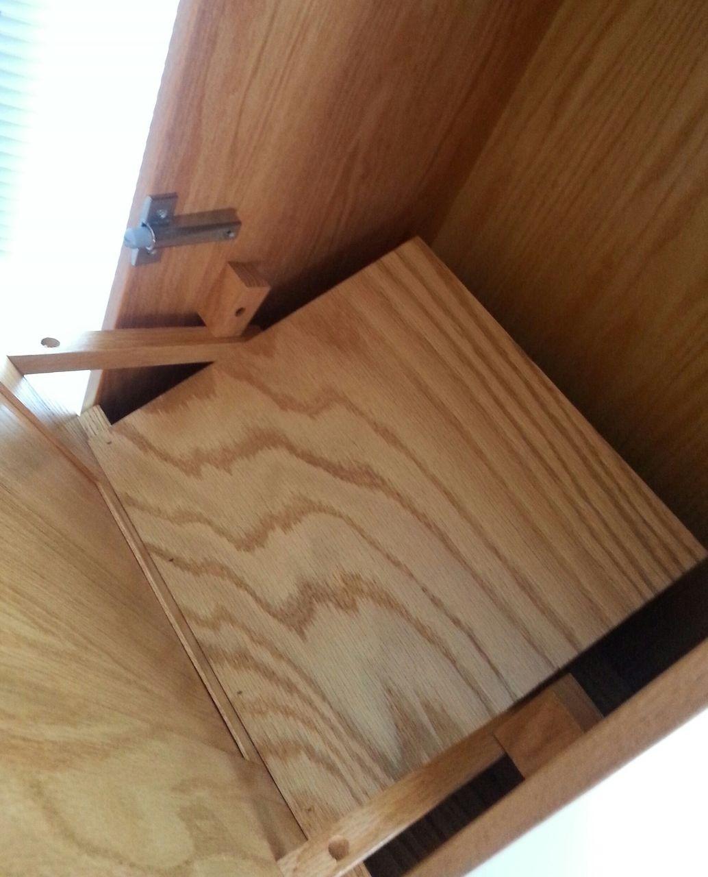Amish Made Wooden Slim Line Tilt Out Trash Bin Diy