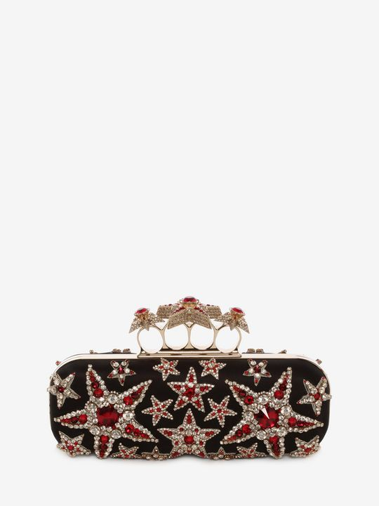 Shop Women s Star Embroidered Knuckle Box Clutch from the official online  store of iconic fashion designer Alexander McQueen. caf9542ea54bc