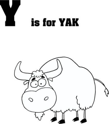 Letter Y Is For Yak Coloring Page From Learn English Alphabet Letter Is For Set Iii Cate Alphabet Coloring Pages Coloring Pages Free Printable Coloring Pages