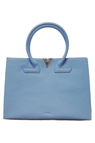 Tzanda Large Alpha And Omega Blue Australian Designer Handbag Online Handbags