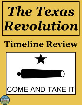 the texas revolution timeline review texas history pinterest