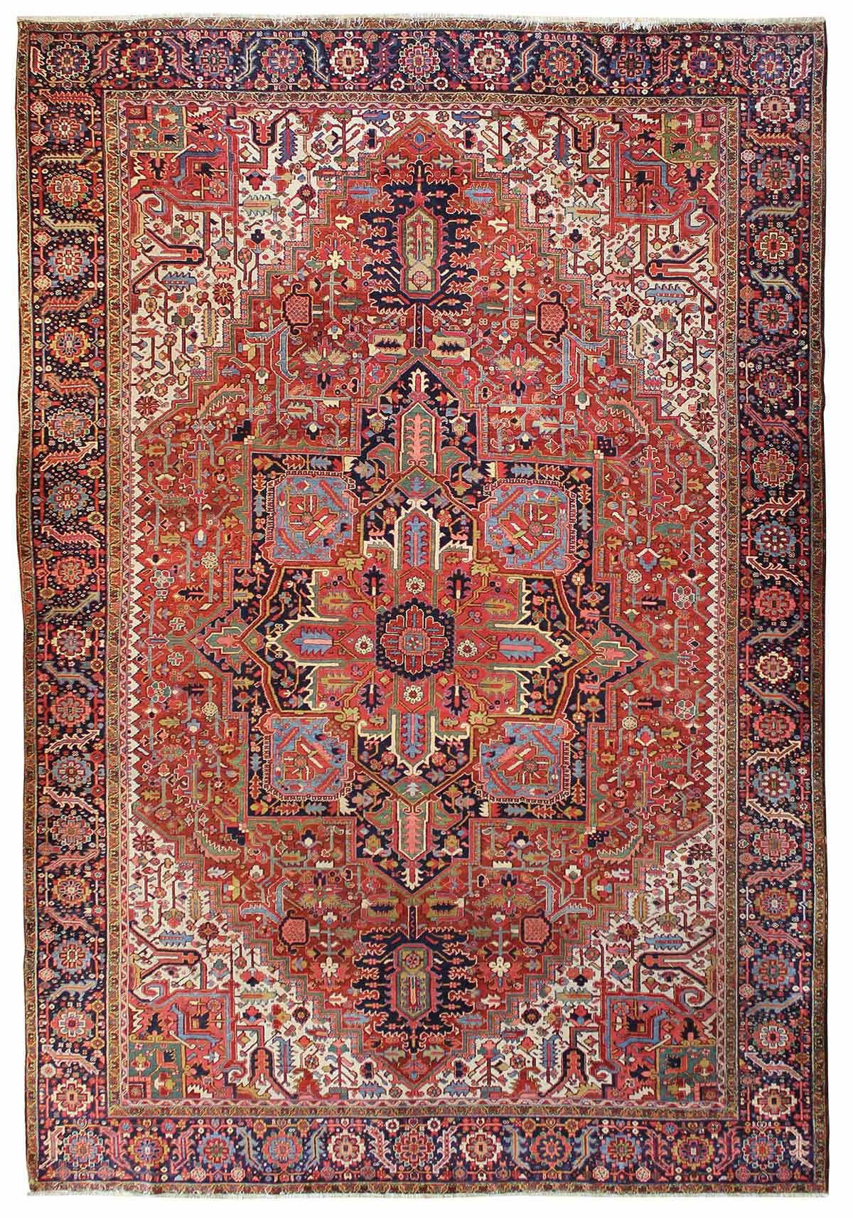 Antique Heriz & Serapi Rugs Gallery: Antique Heriz Rug, Hand