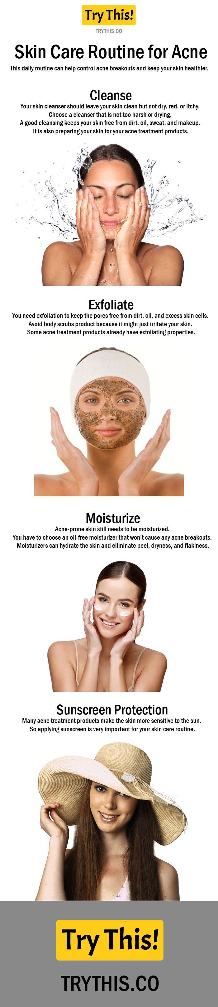 Skin Care Routine for Acne Step by Step Skin care