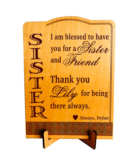 Sister valentines day giftgift to my lovely sistersister sister valentines day giftgift to my lovely sistersister birthday gift personalized negle Gallery