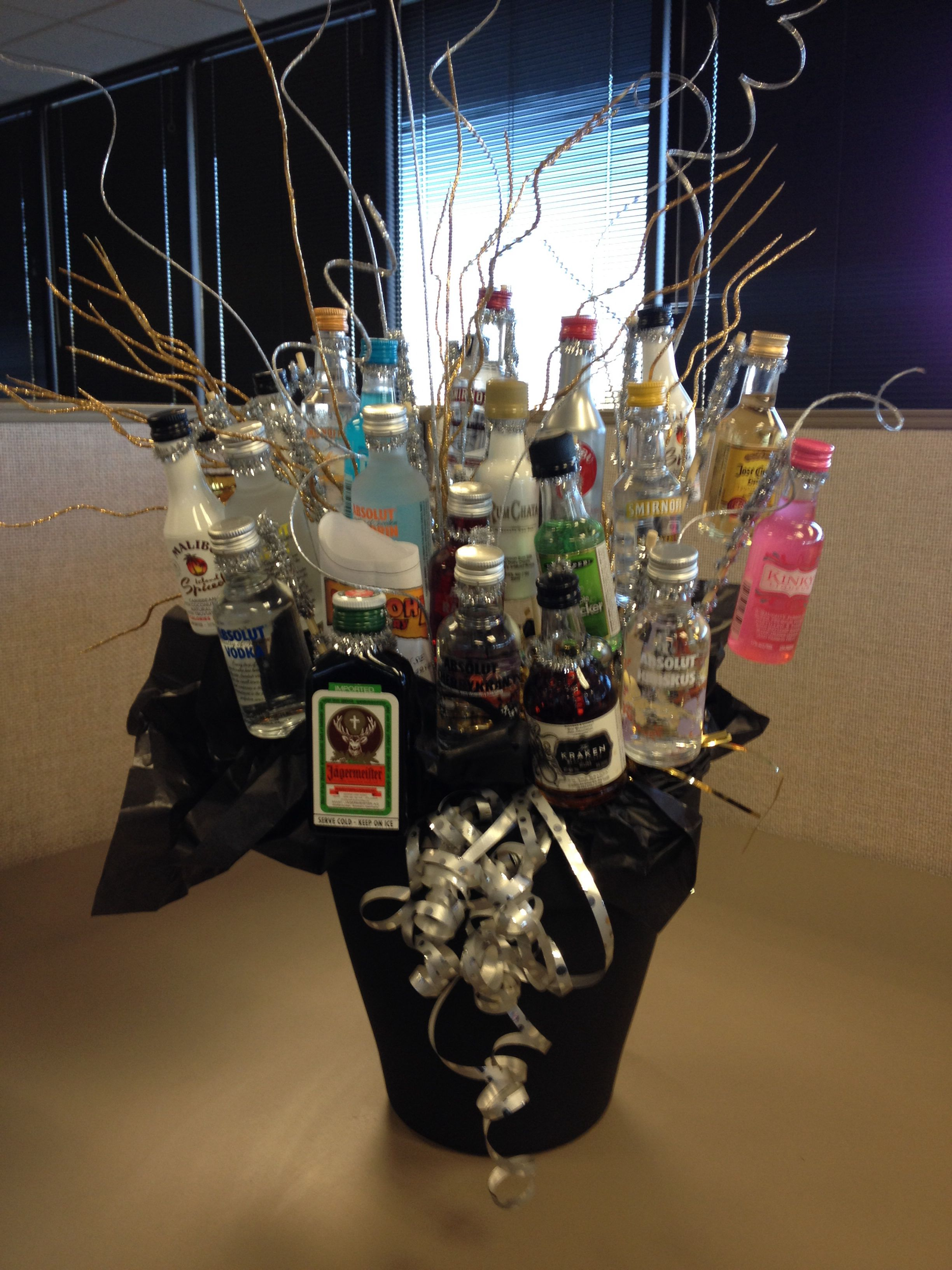 Alcohol Bouquet Holidays Birthday Party Decorations