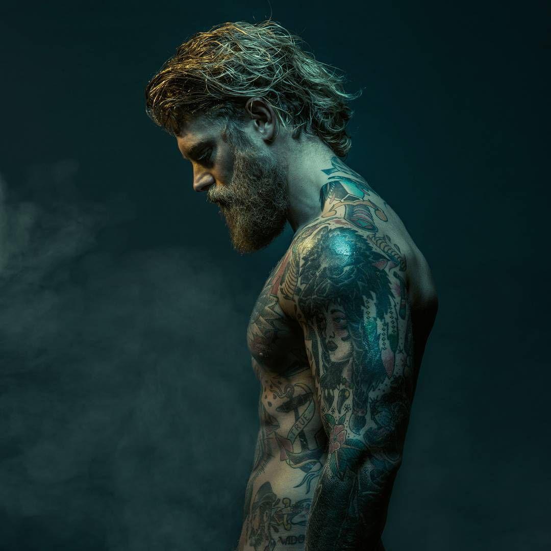 Josh Mario John - full thick blond beard mustache beards bearded man men tattoos tattooed blonde hair viking handsome #beardsforever