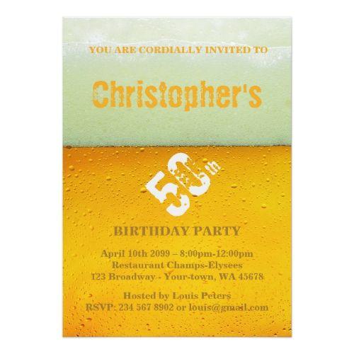 Party Man,Any age,Invitation Fresh Beer Card - fresh invitation card of birthday
