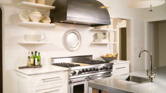 Stainless Floating Shelves Amoroso Design  Kitchens  Viking Range White Kitchen Cabinets