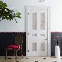 Chic modern hallway with fabric details