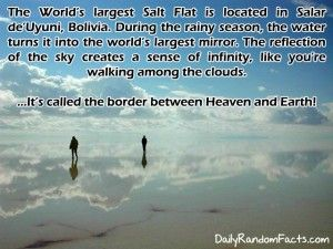 the boarder between heaven and earth