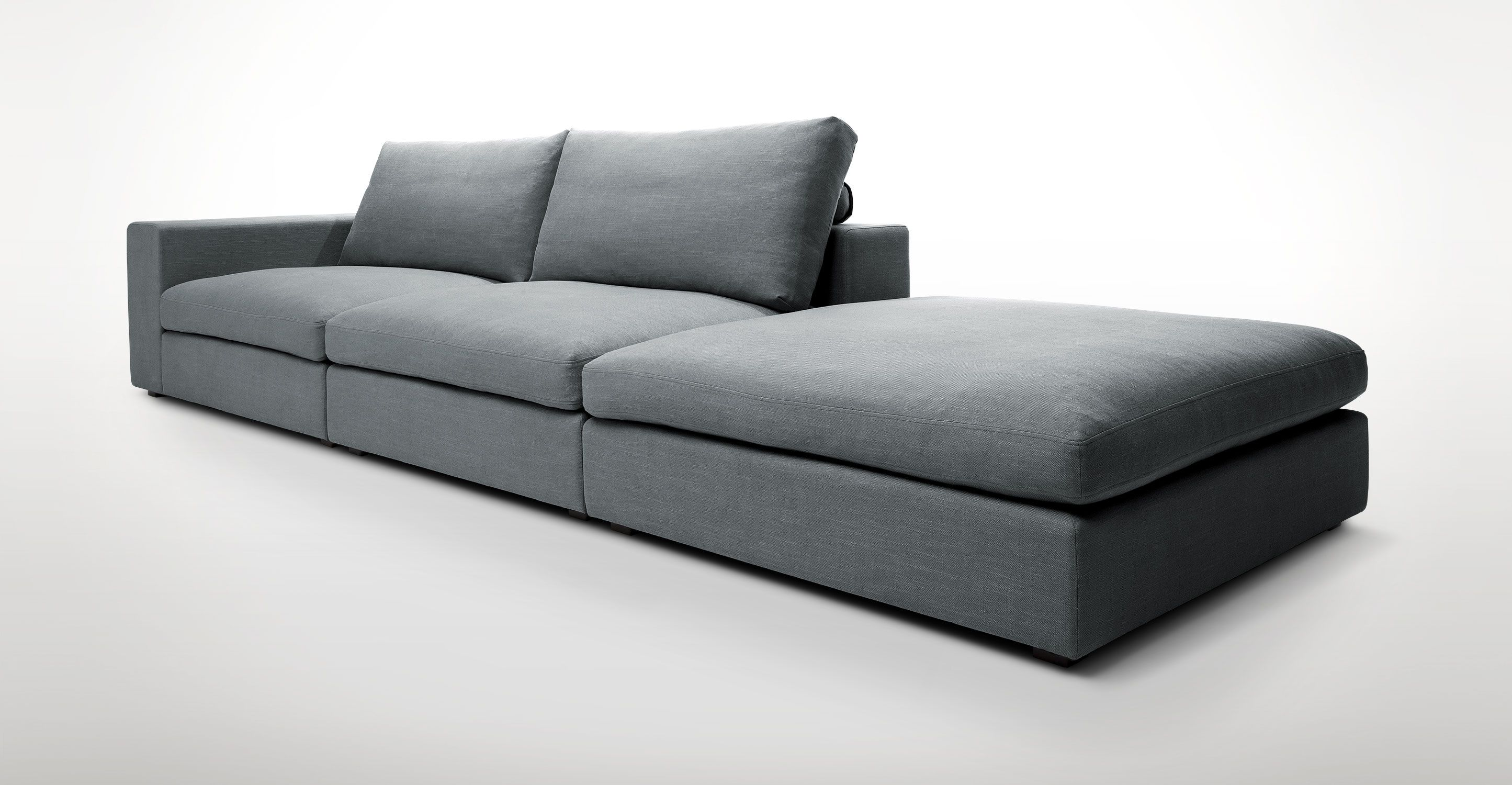 Gray Contemporary Sofa Cube Contemporary Furniture