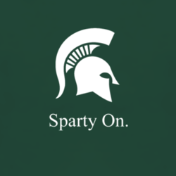 Michigan State Sparty On Spartans T Shirt Www Damncoolteez Com Michigan Spartans Michigan State Michigan State Sparty