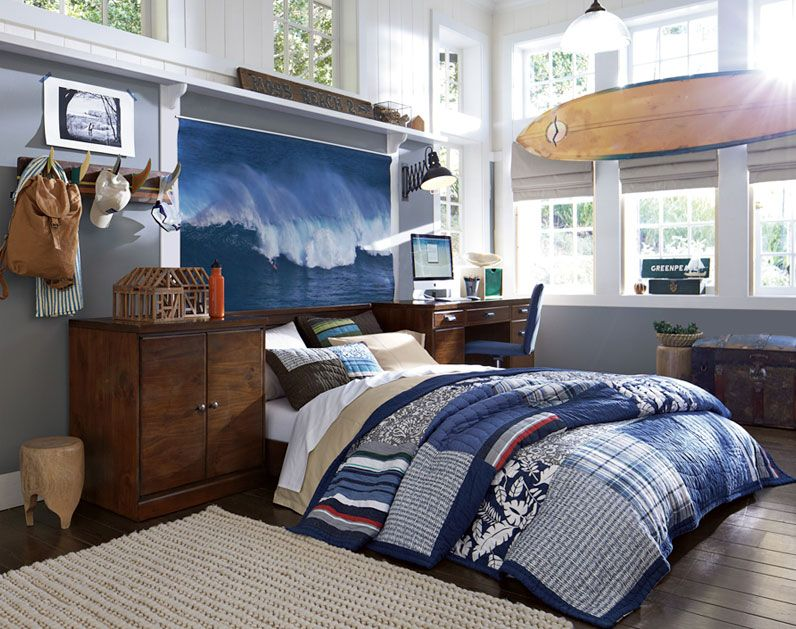 Teenage Guys Bedroom Ideas | Mens room decor, Surf room ... on Teenage Room Colors For Guys  id=98714
