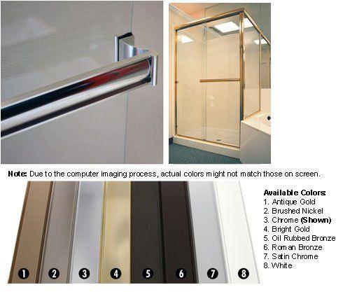 Chrome Sliding Frameless Shower Door Single Towel Bar Kit Https Www Amazon C Frameless Shower Doors Shower Doors Frameless Shower Doors Hardware