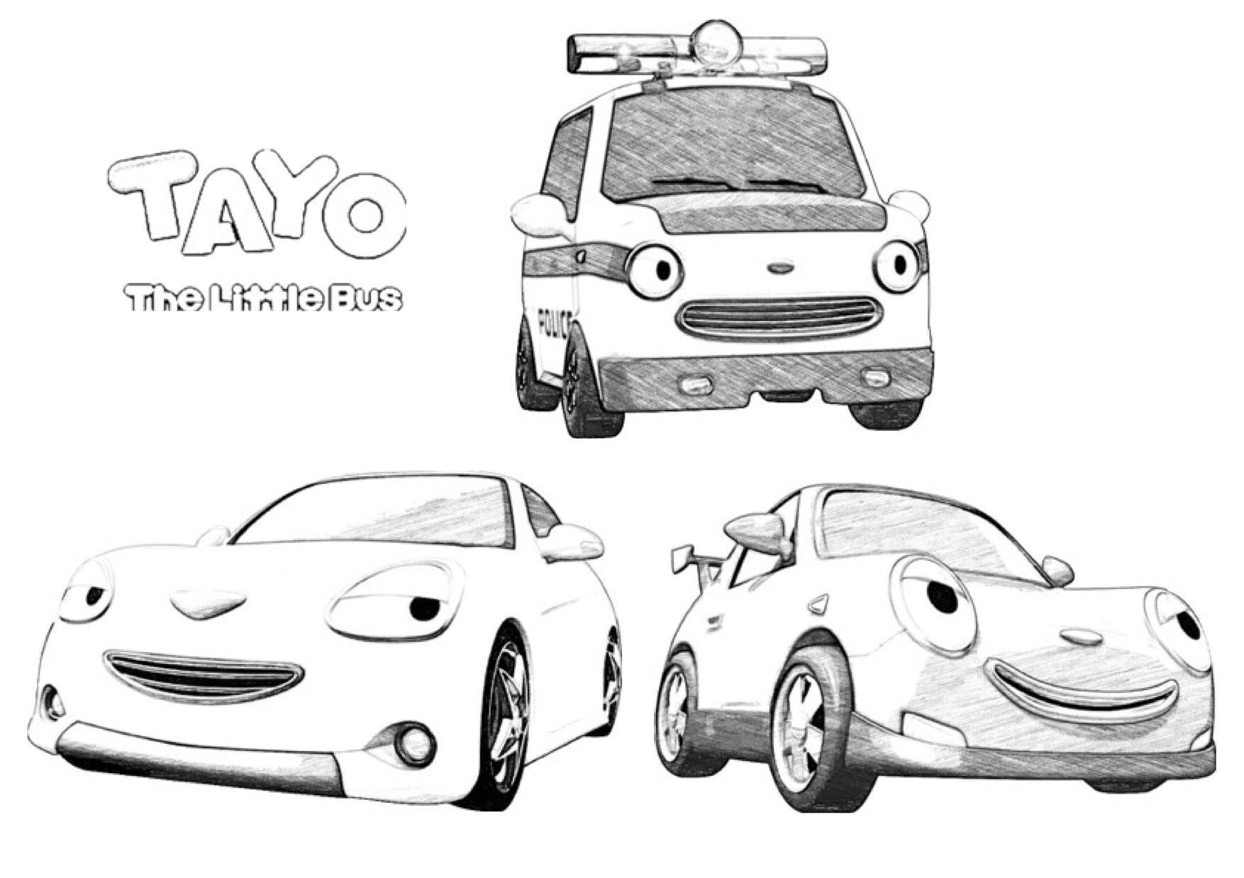 Bus Coloring Pages Tayo 2020 Check More At Https Bo Peep Club