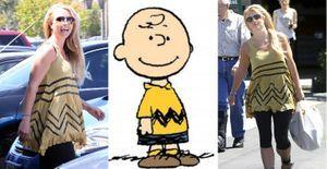 Charlie Brown? Britney Spears usa roupa parecida com a do personagem - Britney Spears foi clicada em um passeio em Los Angeles nesta sexta-feira, 19. O que chamou a atenção foi o look da cantora, que lembra o figurino do menino Charlie Brown