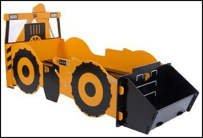 Construction themed bedrooms for boys digger bed kids for Construction themed bedroom ideas