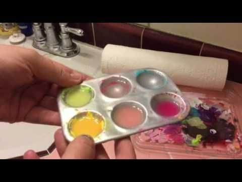This video shows you how to clean your palette with minimal effort. It is a budget friendly art hack with items you most likely already have. Don't forget to...
