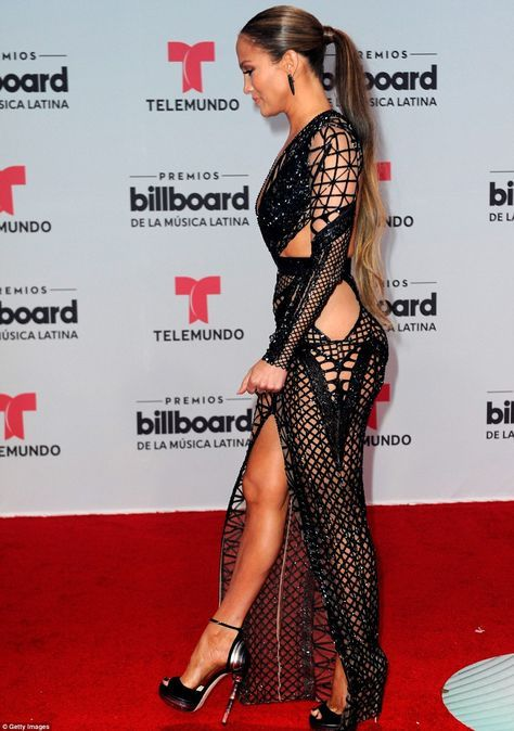 50a2427f308 Jennifer Lopez wears two daring dresses at Billboard Latin Music ...