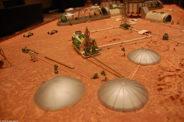 Mars base model by Kevin Atkins