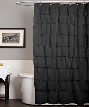 Shower In Style With This Classy Curtain. Showcasing Plush Ruffles, This  Sophisticated Accent Can