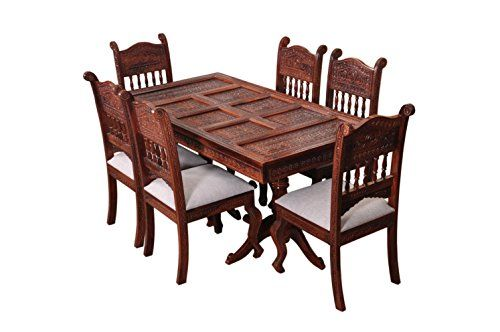 New Induscraft INAF246 6 Seater Dining Table Set Lacquered Finish Cherry Luxury - Cool Dining Table Set 6 Seater New Design