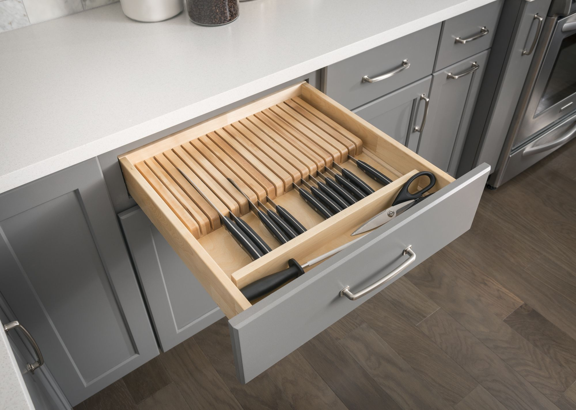 """Knife Organizer Drawer Insert 18 1 2"""" x 22"""" x 2 3 8"""" For use in 18"""