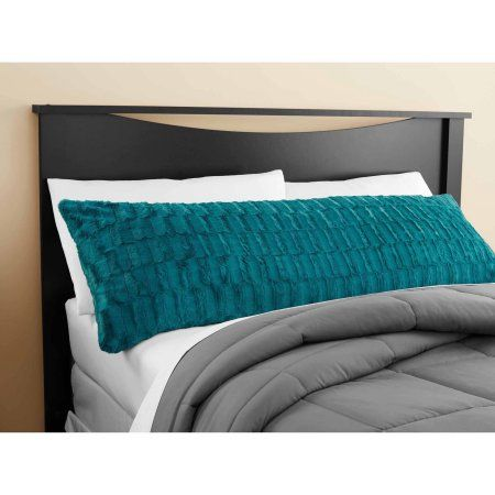 Body Pillow Covers Walmart Impressive Mainstays Teal Sachet Bamboo Fur Body Pillow Cover  Walmart Design Decoration