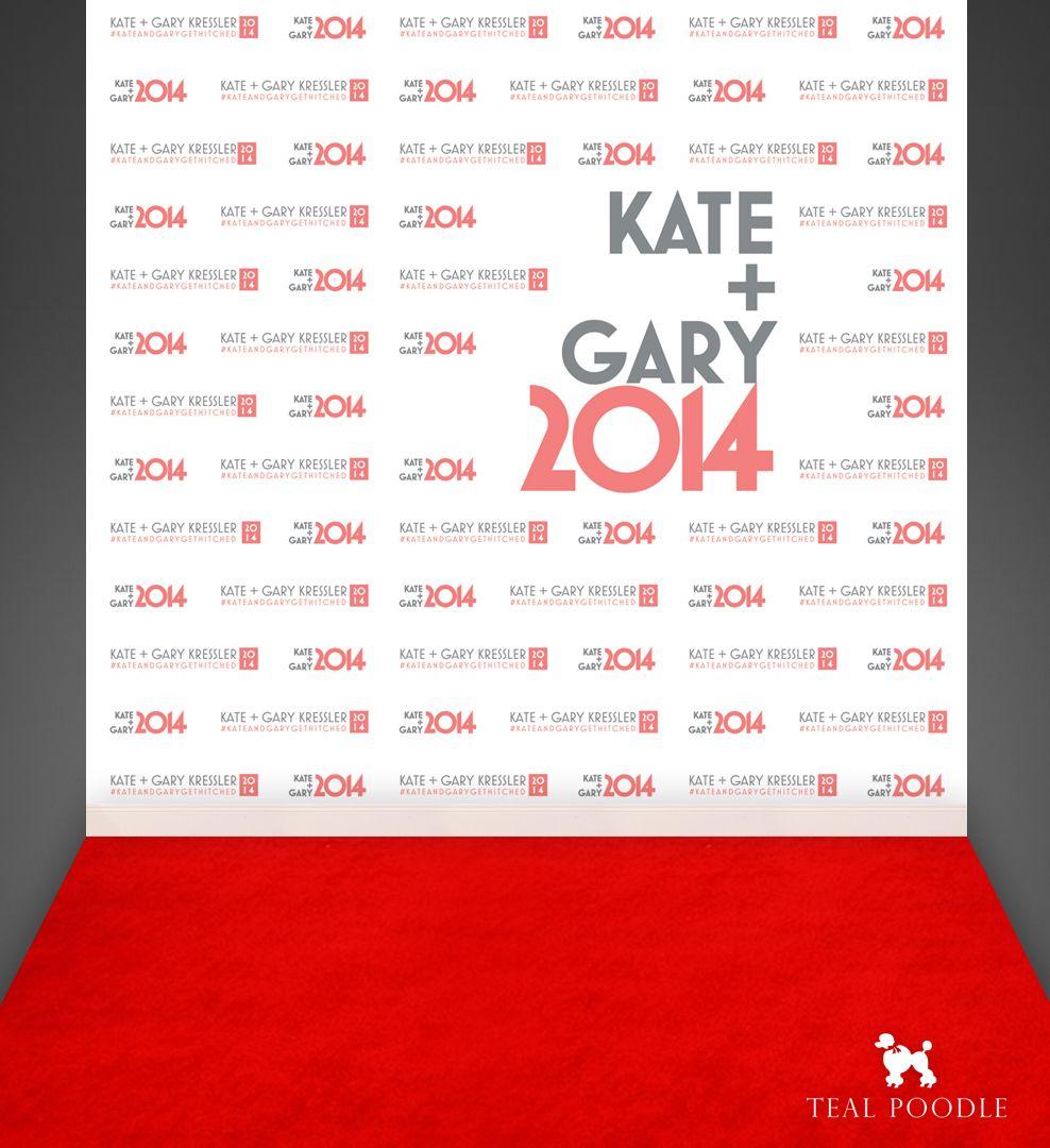 Bride Groom Wedding Red Carpet Backdrop