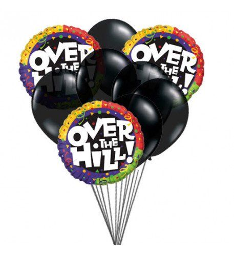 Over The Hill Balloons Who Is 50th Up On His Her Birthday
