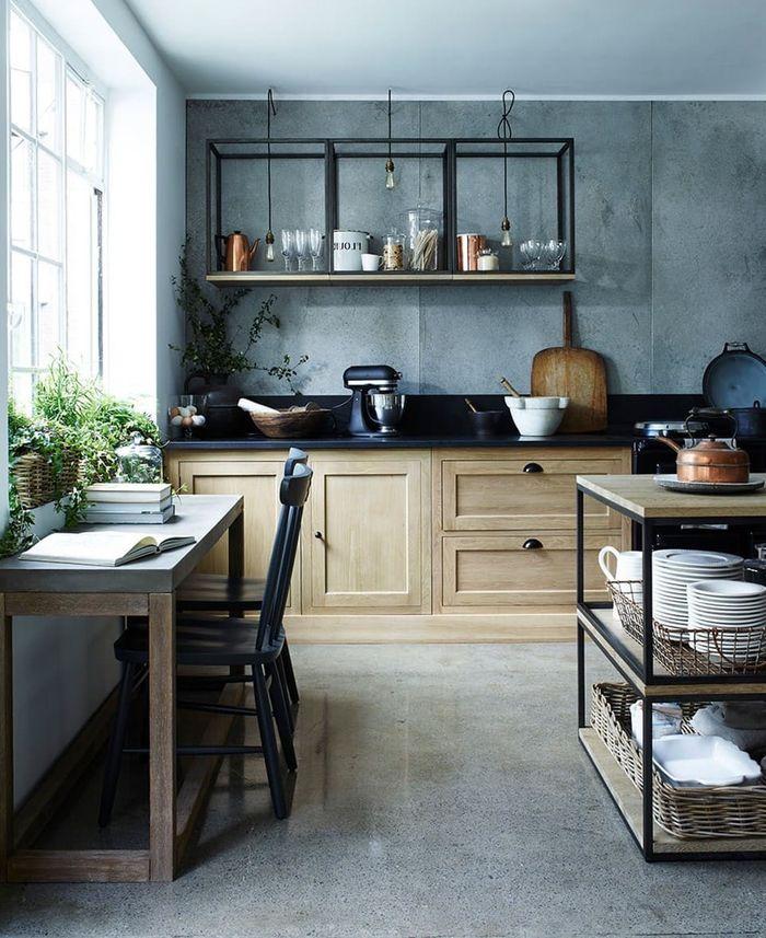 1001 Idees Deco Pour Amenager Une Cuisine Style Industriel Meuble Cuisine Cuisine Style Industriel Cuisine Industrielle