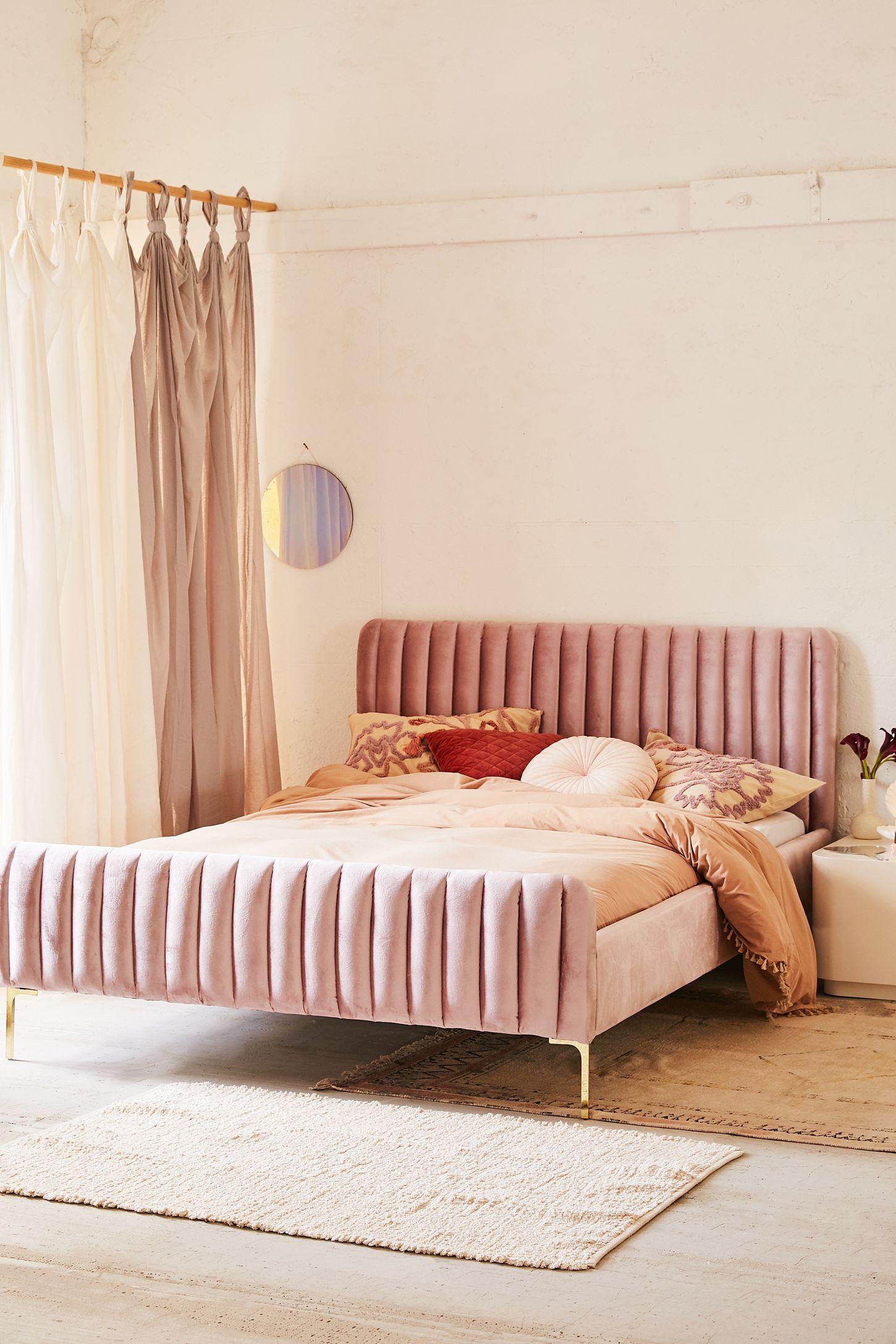Marcella Velvet Bed Bedroom Design Velvet Bed Simple Bedroom