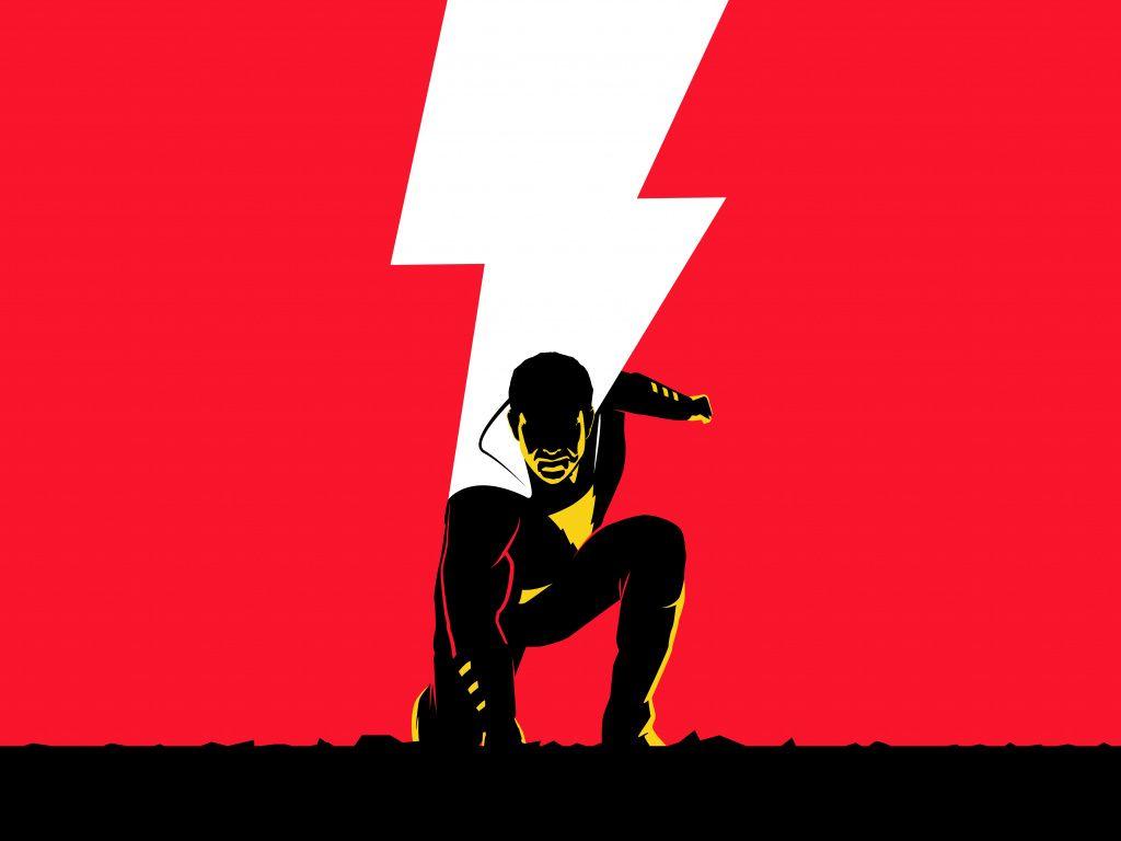 Shazam!, movie, minimal, poster ...
