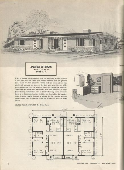 Vintage house plans, mid century homes, 1950s homes ... on 1950s small house landscaping, 1950s small tile flooring, 1950s small farm house plans, 1950s office floor plans, 1950s small home, 1950s small ranch house plans,