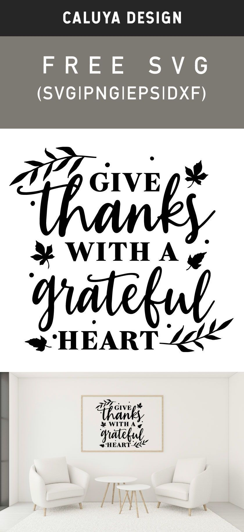 Free Give Thanks With A Grateful Heart Svg Png Eps Dxf In 2020 Give Thanks How To Make Planner Free Printable Clip Art