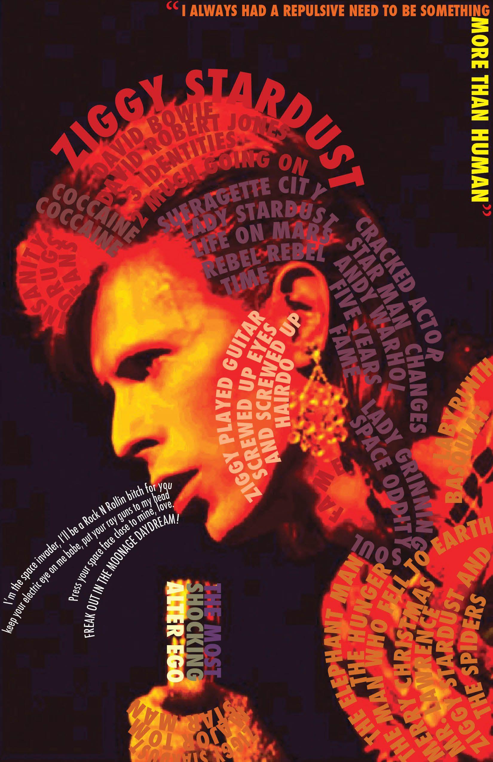 Original Ziggy Stardust Tour Poster
