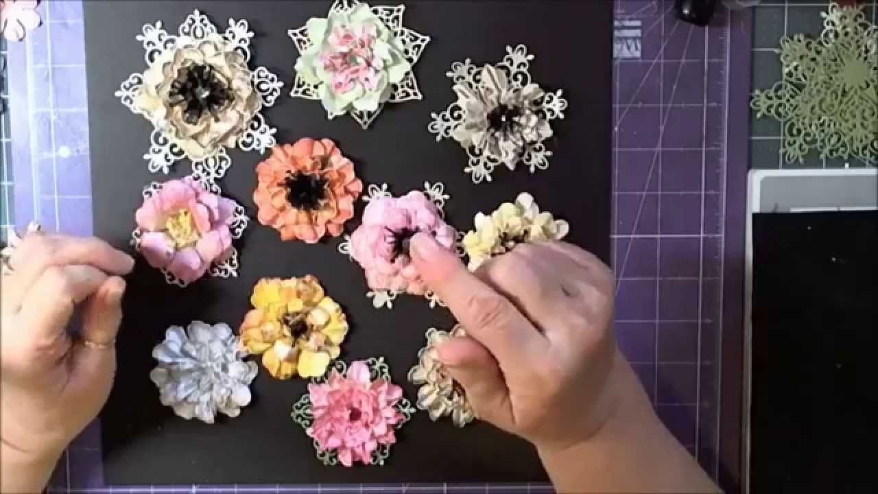 How To Do Paper Flowers With Heartfelt Creations Tutoriales