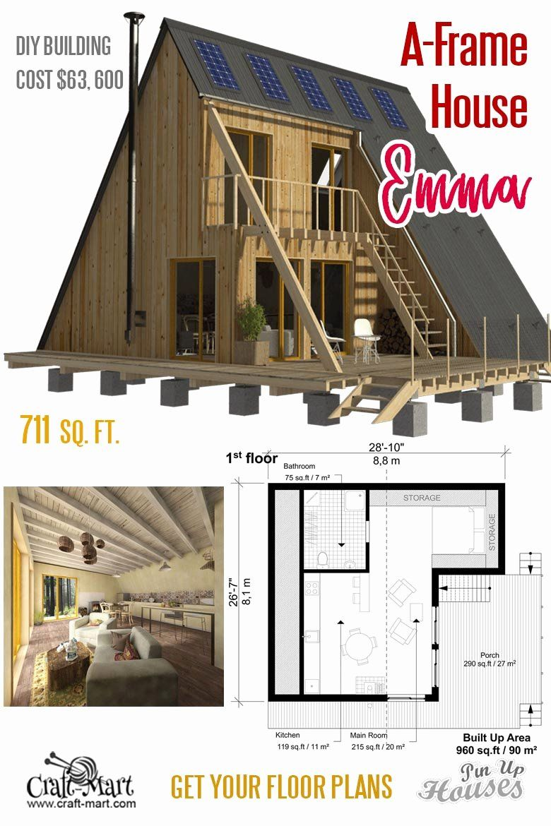 House Plans Under 1000 Sf Luxury Unique Small House Plans Under 1000 Sq Ft Cabins Sheds In 2020 Unique Small House Plans Flat Roof House Small House Plans