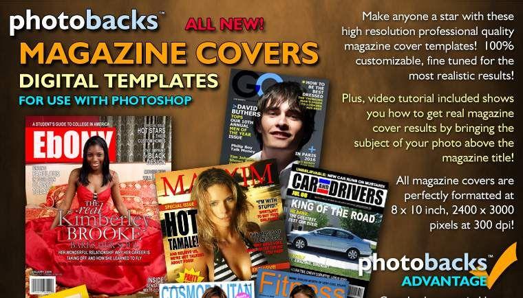 Magazine Cover Digital Templates for Magazine