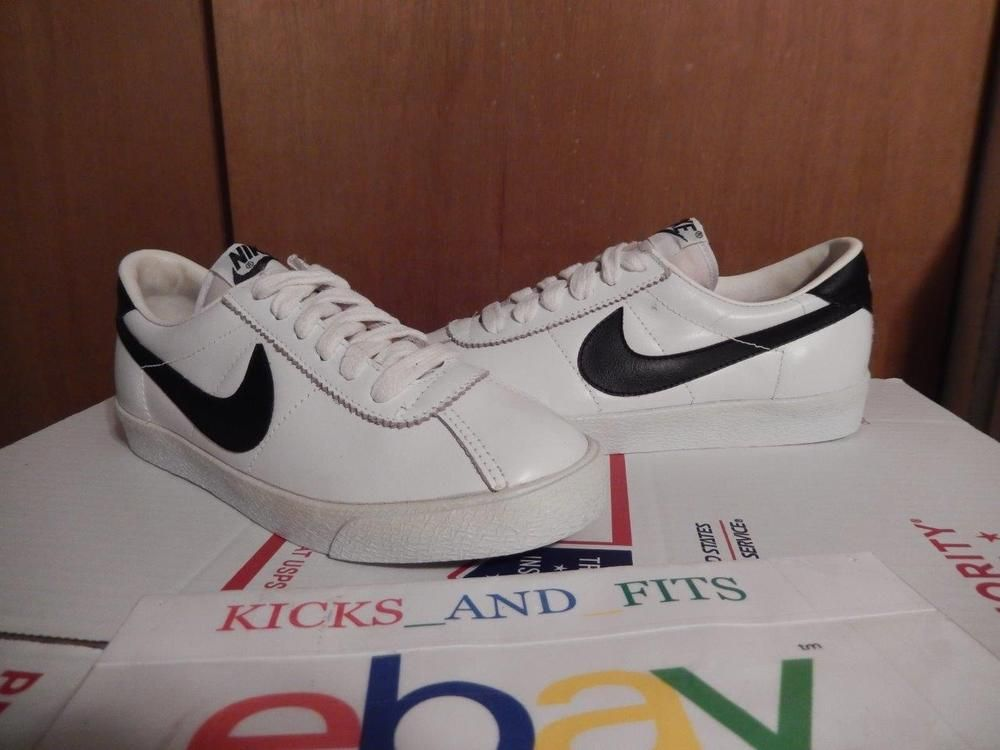 best service d5a84 6f050 Vintage 1982 Kids Nike Bruin Low Basketball Shoes White Black 3.5 Korea OG  Nike