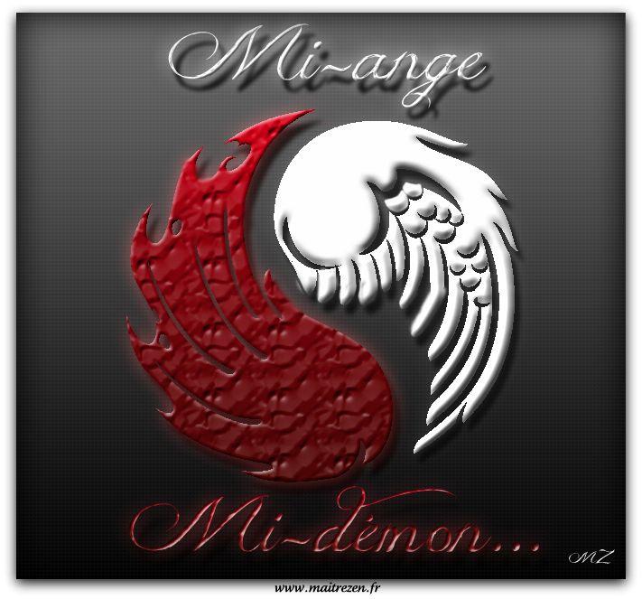 Image Ange Et Demon ange et démon | yin yang images | demon tattoo, demon symbols, angel