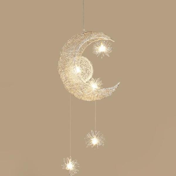 Modern Pendant Lighting Moon Star hanging lights Children Bedroom Lighting Fixture #pendantlighting