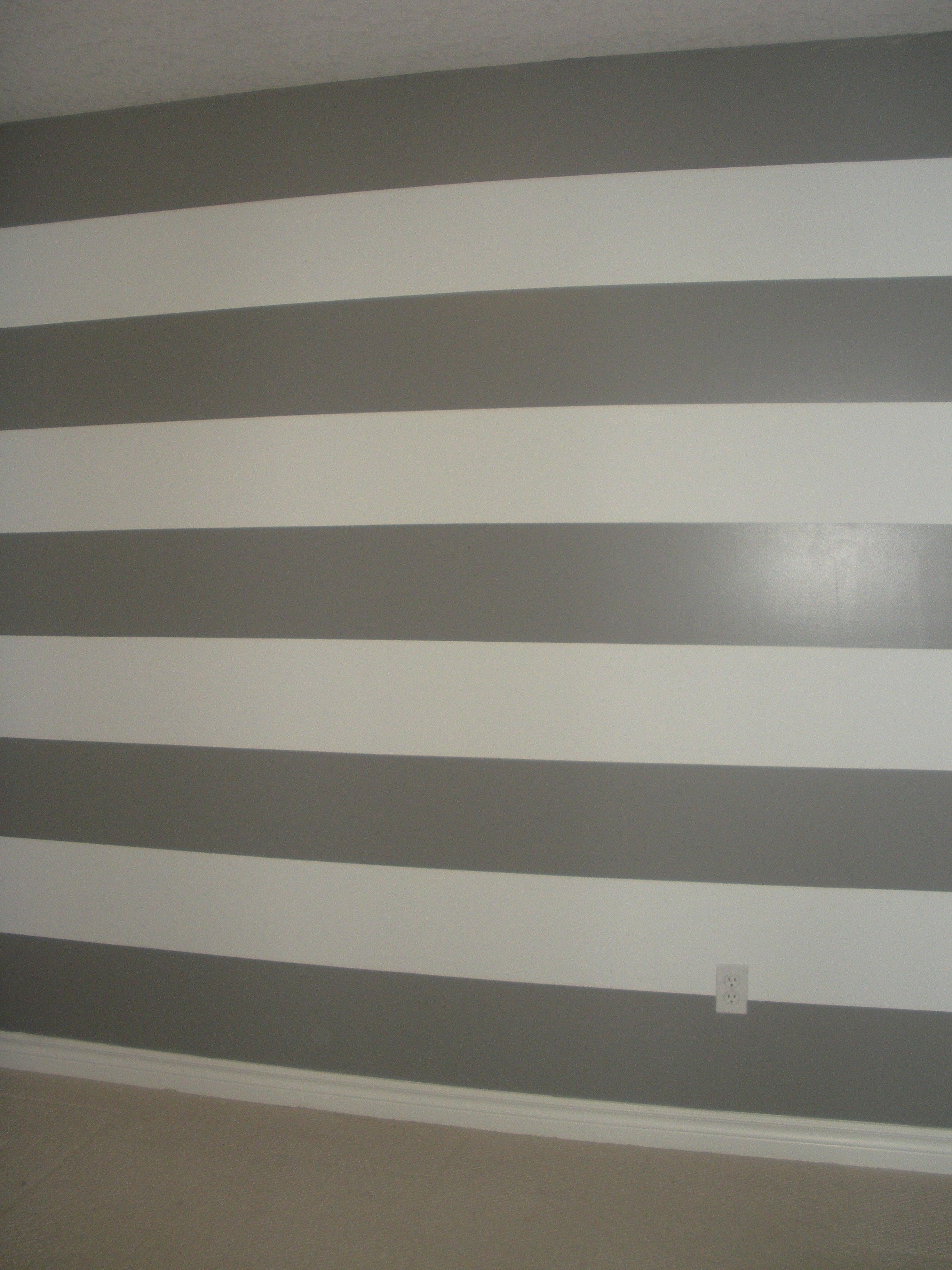 Pin By Sarah Thomas On Baby Boy S Nursery Room Paint Designs Striped Bathroom Walls White Wall Bedroom