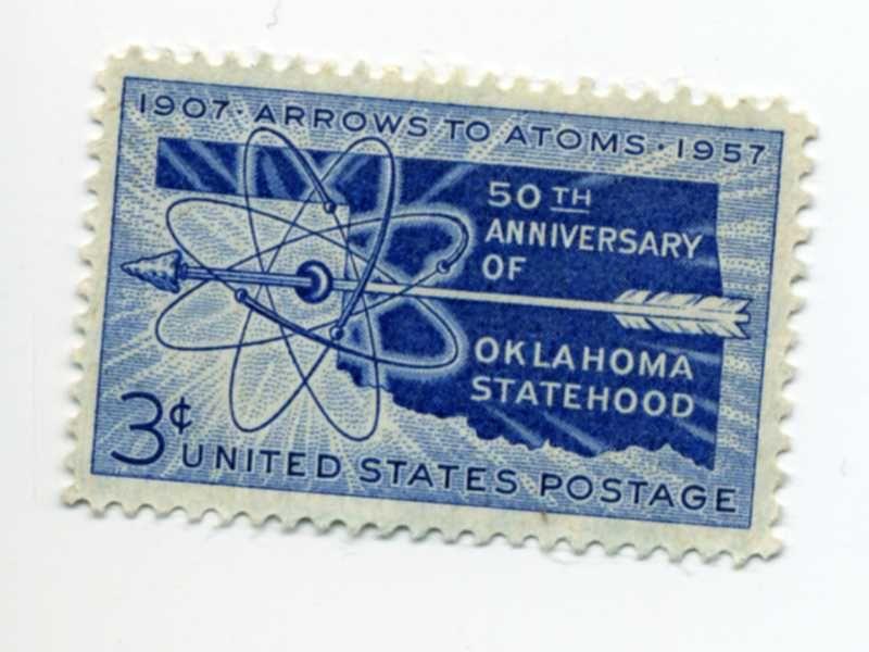 3-cent Oklahoma Statehood 1907--1957
