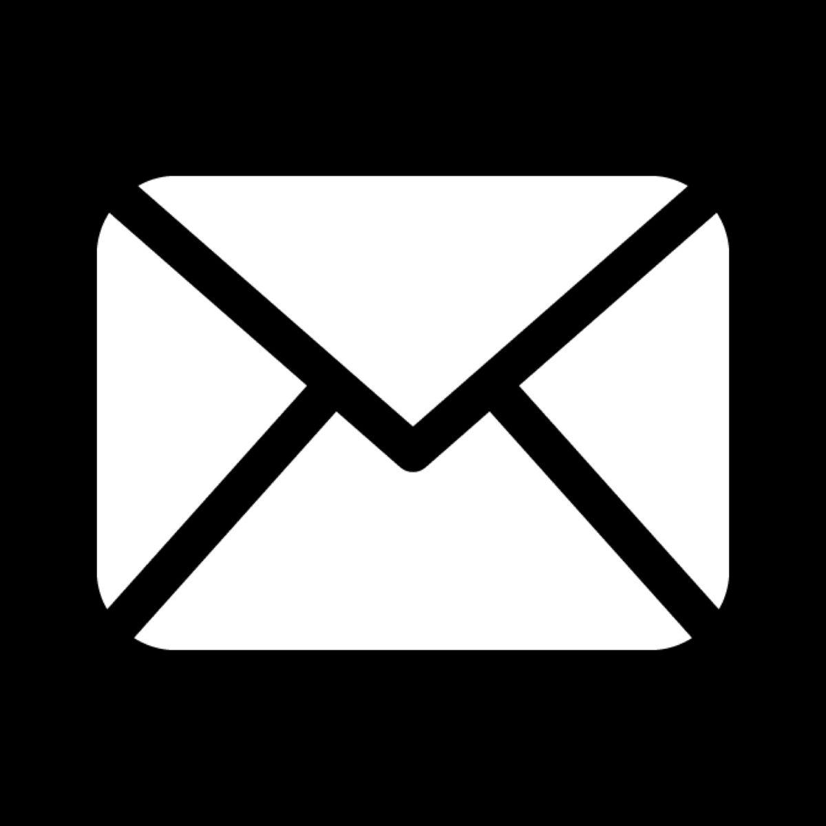 Mail Icon Black Iphone Icon Ios Icon App Icon