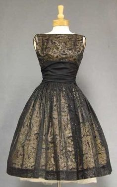 Fabulous Late 1950 S Early 1960 S Cocktail Dress In Black