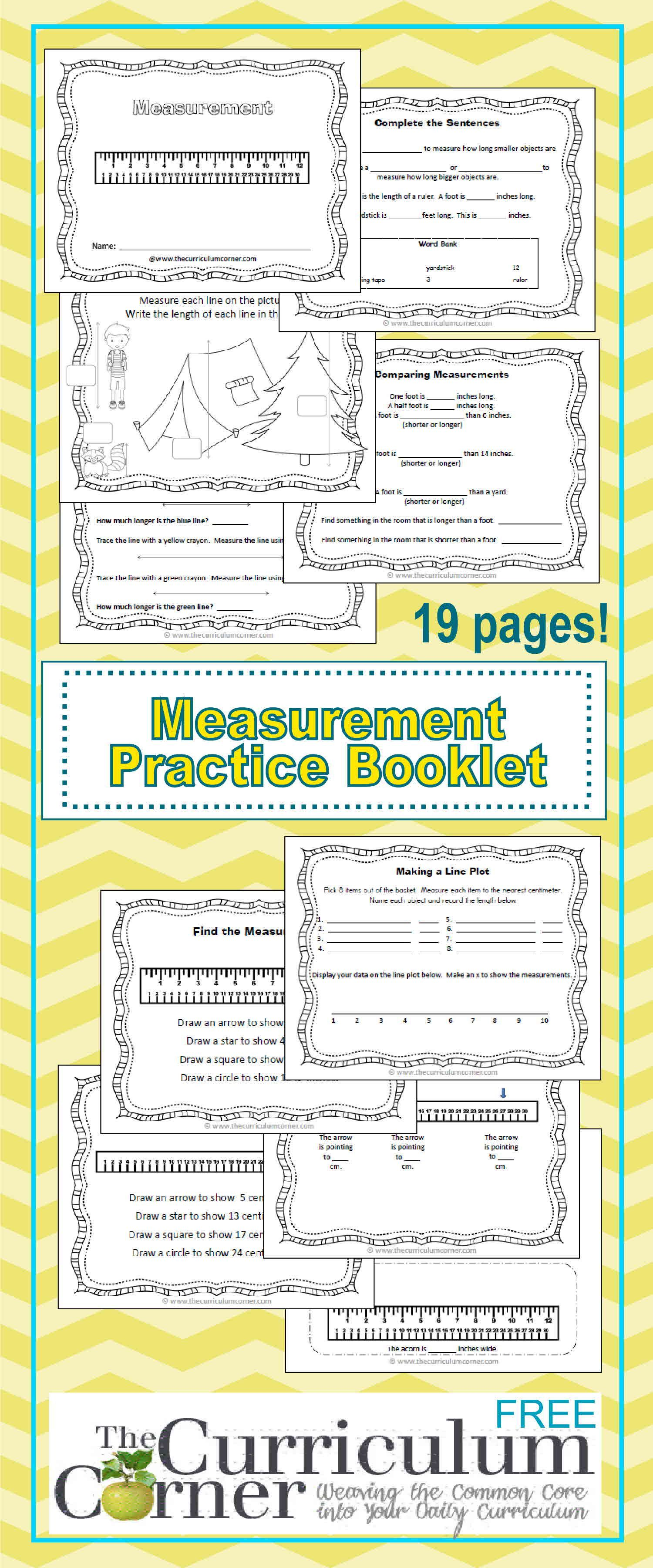 graphic about Printable Measurement Games referred to as Linear Size Prepare Booklet Moment Quality Math
