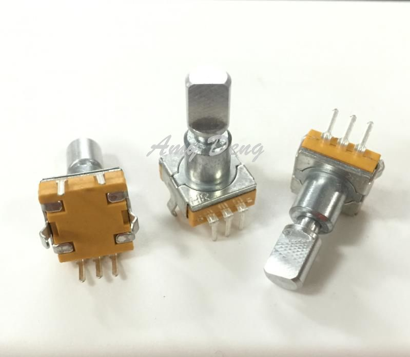 50pcs/lot EC11 encoder with switch 30 15 pulse posioning